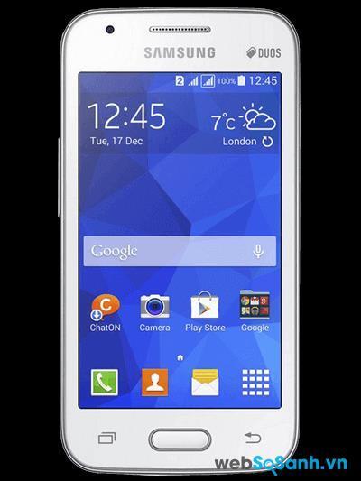 alaxy V Plus sở hữu màn hình 4.0 inch độ phân giải 480 x 854 pixels