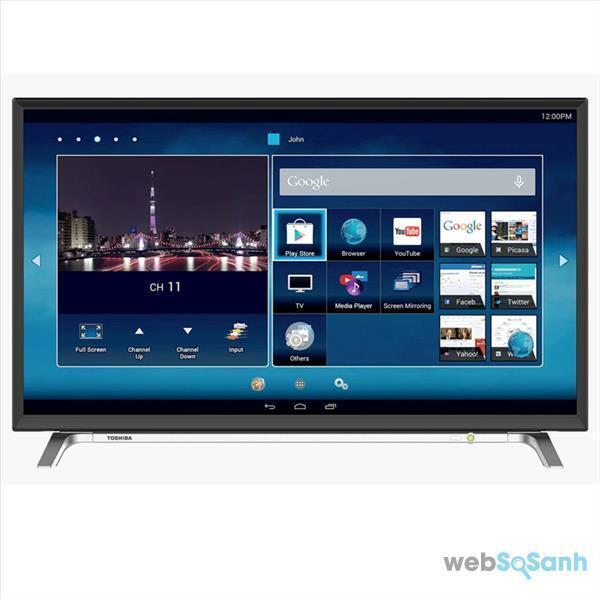 Giao diện Smart tivi Toshiba
