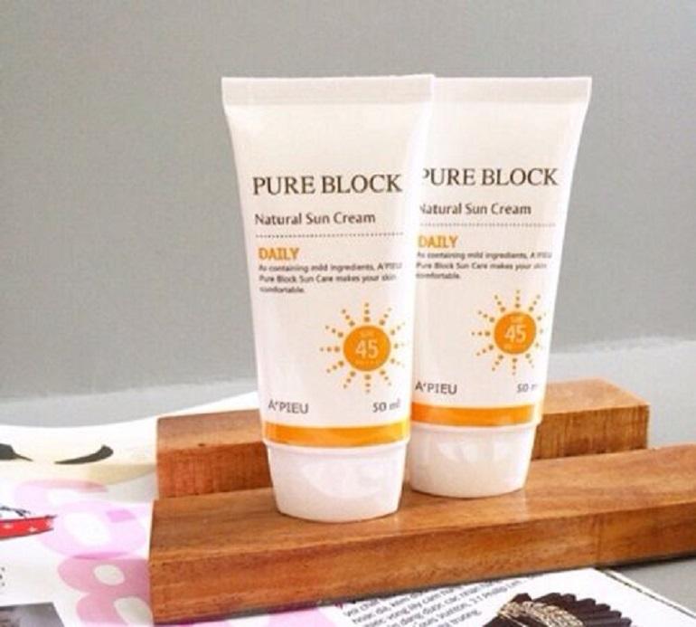 Kem chống nắng A'pieu Pure Block Natural Sun Cream Daily