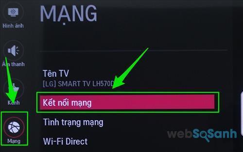 Internet trên smart tivi LG