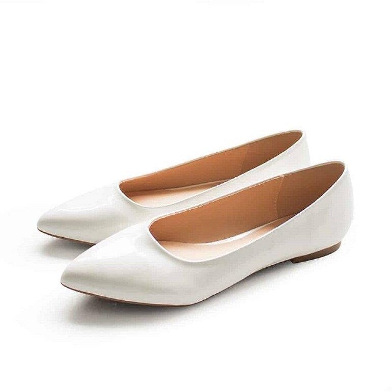 giày búp bê mũi nhọn đơn giản