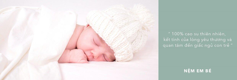 Nệm Liên Á cho em bé có độ đàn hồi cực tốt