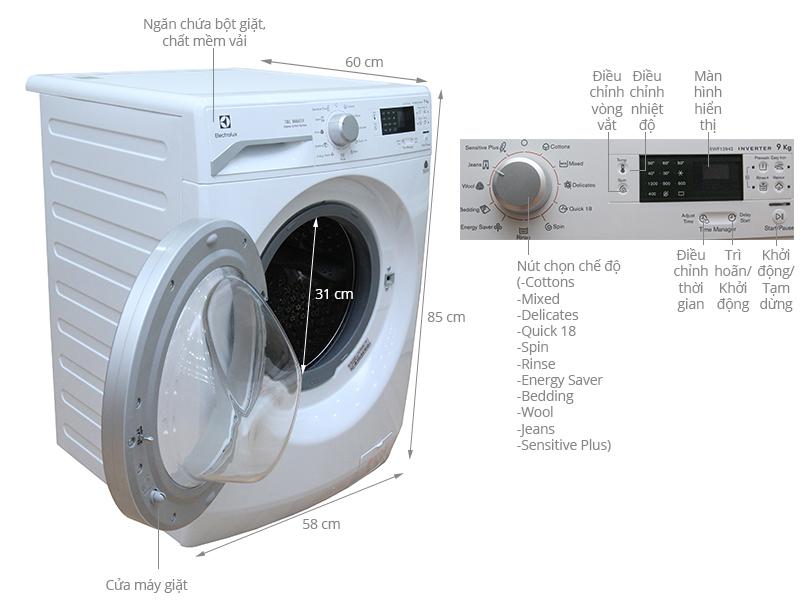 máy giặt electrolux 8kg giá bao nhiêu tiền