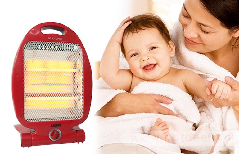 Sử dụng đèn sưởi cho trẻ sơ sinh ra sao để bảo vệ mắt cho bé.