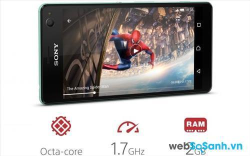 Sony Xperia C4 Dual được trang bị bộ vi xử lý Mediatek MT6752 kiến trúc 64 bit