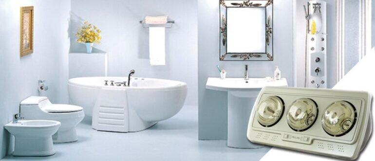 Nên lựa chọn các loại đèn sưởi nhà tắm có công tắc riêng cho từng bóng