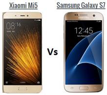 So sánh điện thoại Samsung Galaxy S7 và Xiaomi Mi 5
