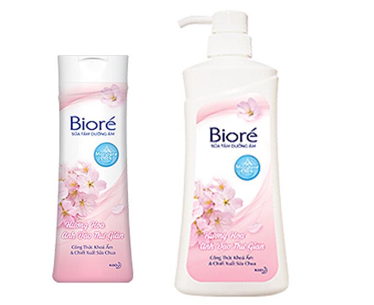 Thiết kế sữa tắm Biore hoa anh đào