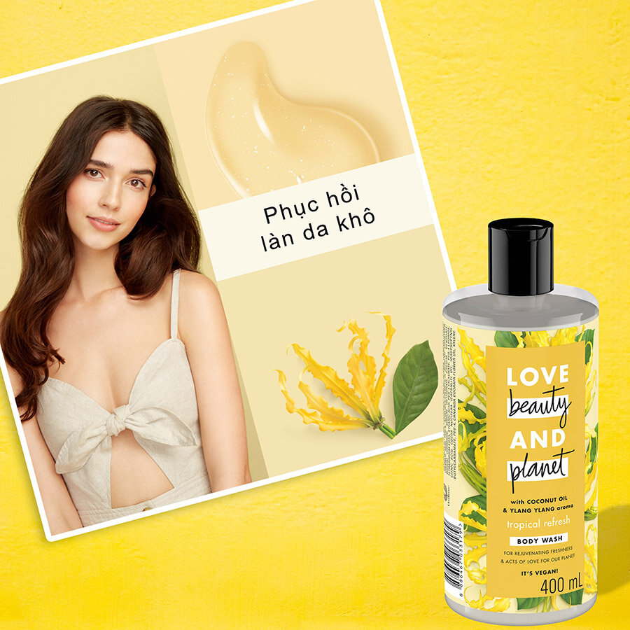 Sữa tắm Love Beauty And Planet Tropical Refresh