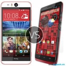 So sánh hai điện thoại thông minh HTC Desire Eye với Motorola DROID Turbo