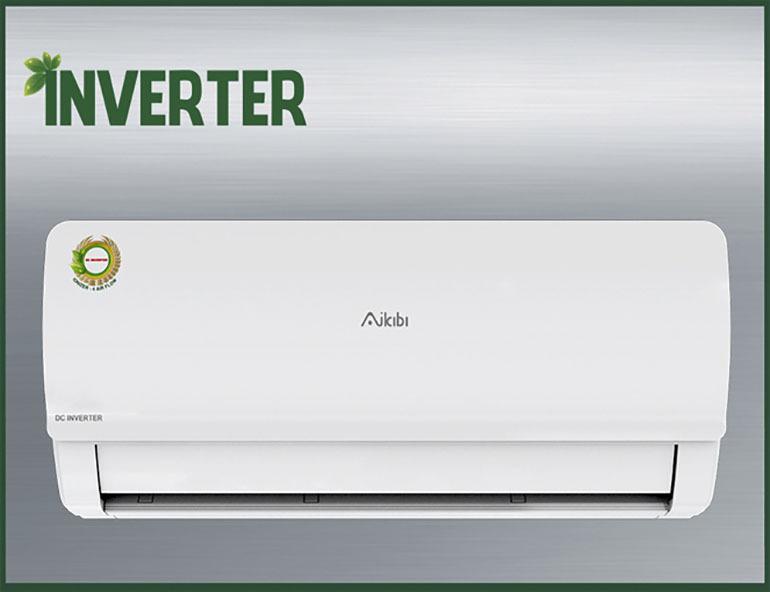 Điều hòa - Máy lạnh Aikibi inverter AWF09IC 1 chiều thiết kế đơn giản dễ dàng cho bạn phối kết hợp trong không gian gia đình mình 9.000 BTU