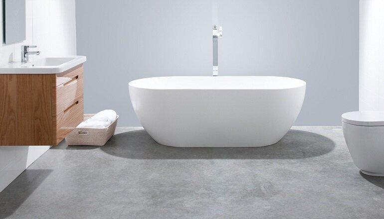Bồn tắm của Caesar có khả năng chống trầy xước cao, chống bám bẩn, vệ sinh dễ dàng và có độ bền cao