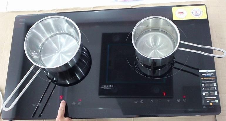 Bếp từ dương dễ dàng vệ sinh.