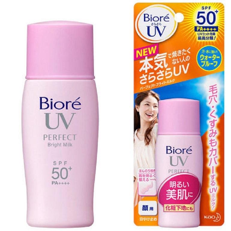 Kem chống nắng trắng da Biore UV Bright Face Milk