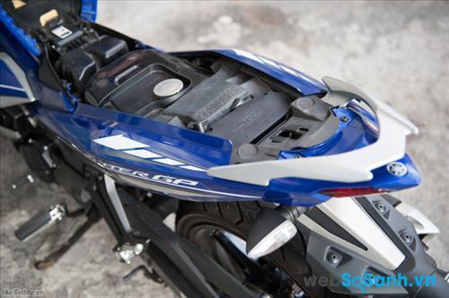 Cốp xe trên Yamaha Exciter 150
