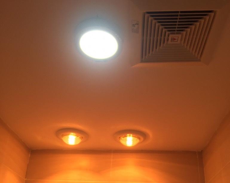 Đèn sưởi nhà tắm 1 bóng âm trần.