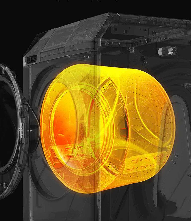 Công nghệ sấy nóng, giúp quần áo nhanh khô mà không bị khô