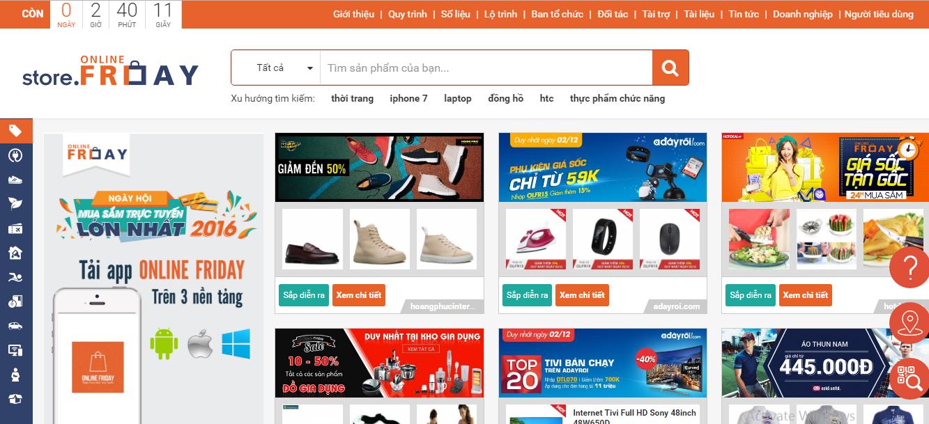 Online Friday 2016- Ngày hội mua sắm trực tuyến giá rẻ cho người Việt Nam