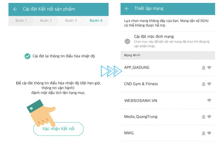 hướng dẫn điều khiển dòng điều hòa LG Wifi bằng Smartphone