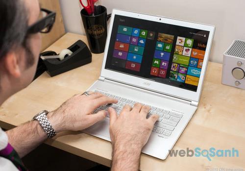 Bạn sẽ mất nhiều thời gian để làm quen với bàn phím của laptop mini