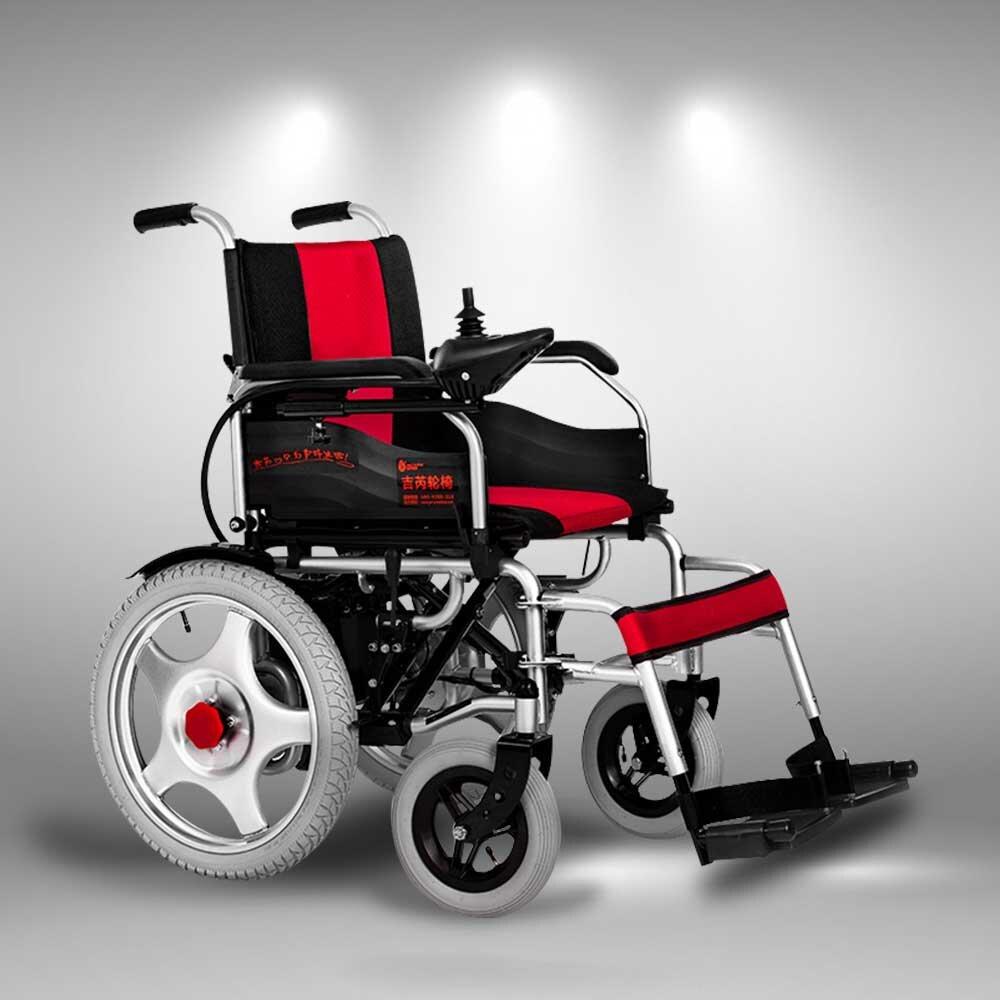 Hình ảnh một chiếc xe lăn y tế tiện nghi chạy bằng điện