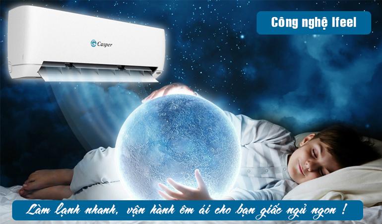 Điều hòa Casper EC-12TL22 công nghệ iFeel cho giấc ngủ sâu
