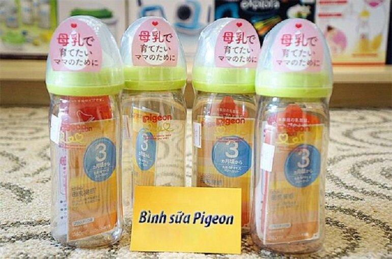 bình sữa Pigeon 240ml nội địa Nhật cổ rộng đã được rất nhiều các bà mẹ