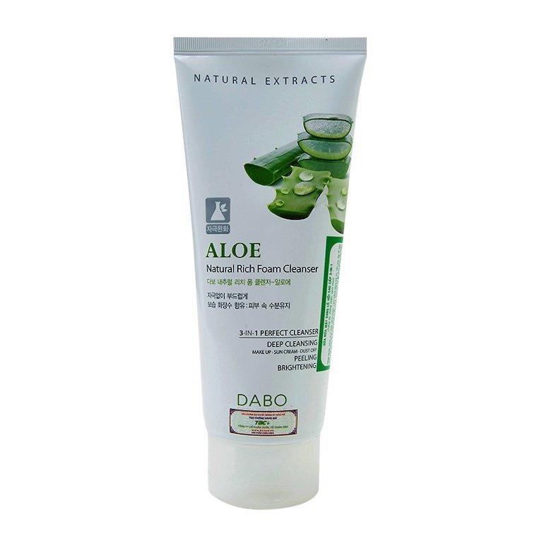 Sữa rửa mặt nha đam Dabo Aloe Natural Rich Foam Cleanser