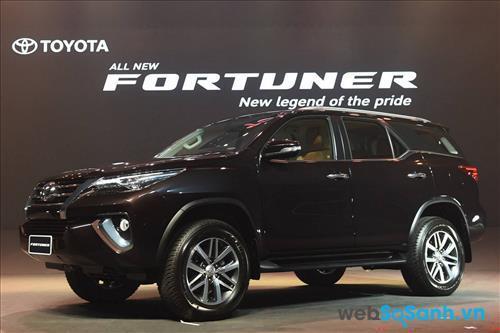 Toyota Fortuner được bán ra trên thị trường với 5 phiên bản và mức giá khác nhau