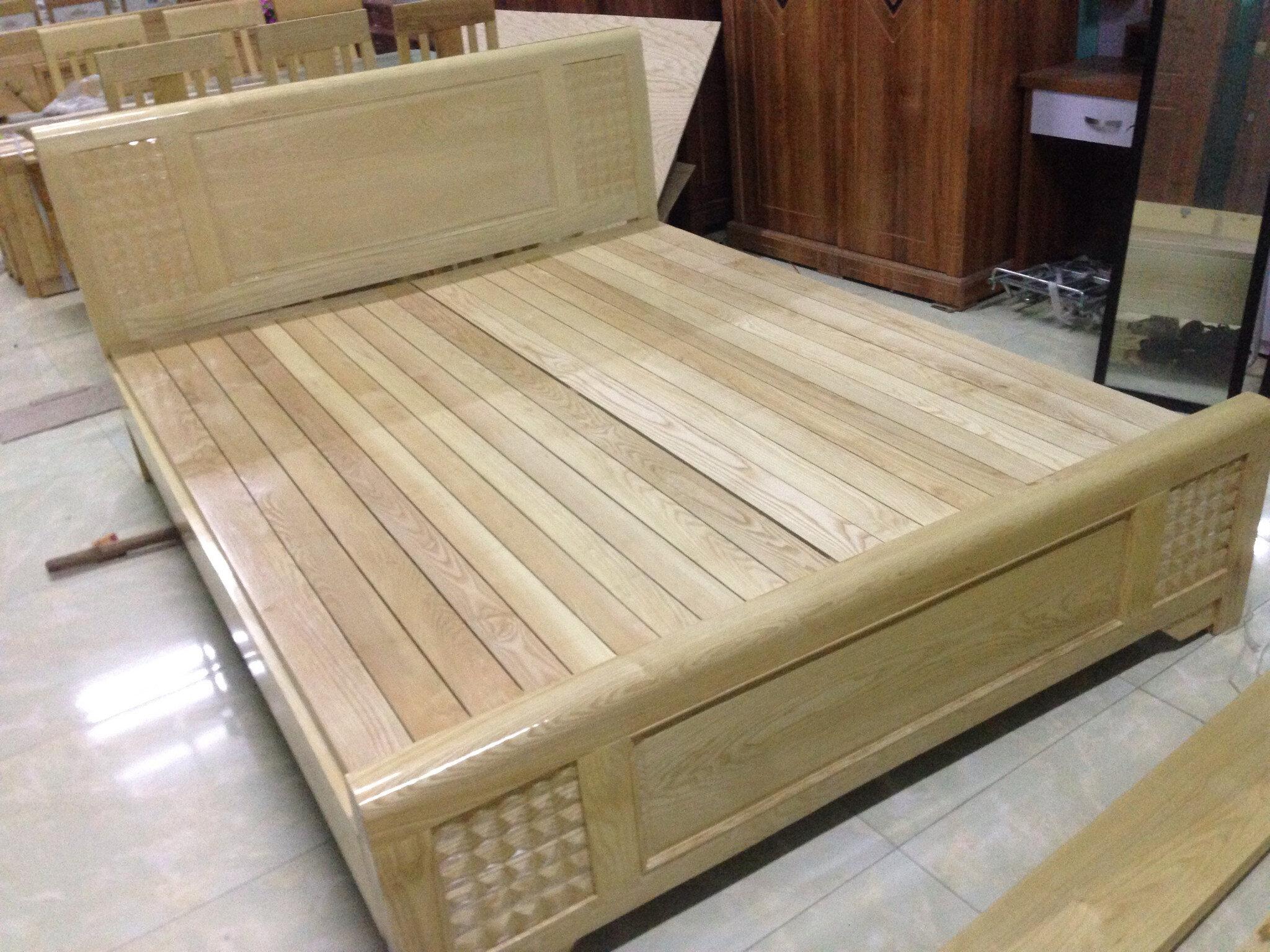 Giường gỗ sồi vừa đơn giản lại cao cấp hiện đại