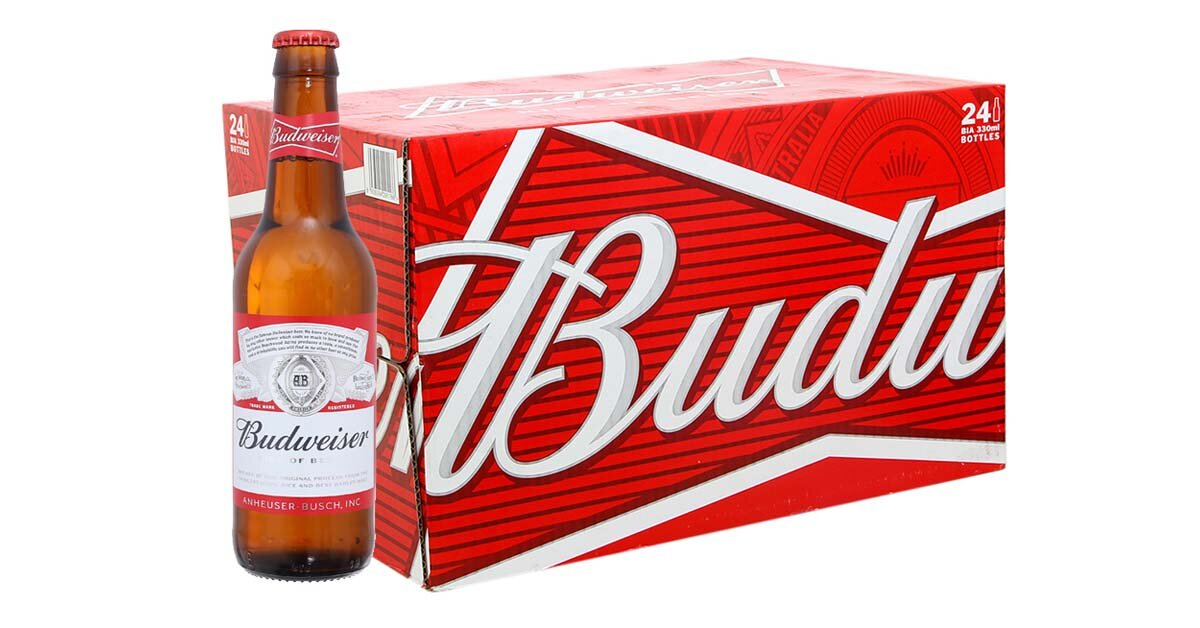 Giá bia Budweiser Budvar nhập khẩu từ Tiệp bao nhiêu tiền 1 thùng dịp Tết 2019?