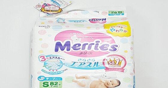 Giá bỉm Merries Size S có đắt không ?