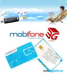Giá các gói cước 3G của Mobifone