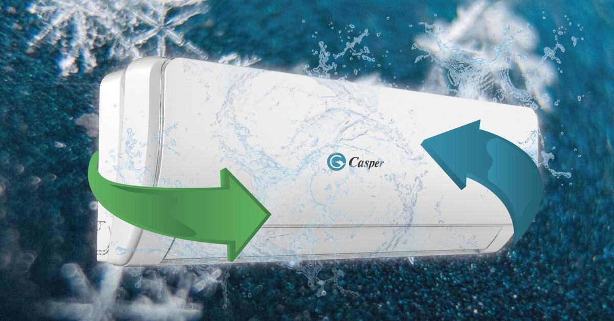 Giá điều hòa Casper Convert Series RẺ HƠN 2 TRIỆU so với Casper Turismo Series khi cùng sở hữu tính năng mới Cold Catalyst