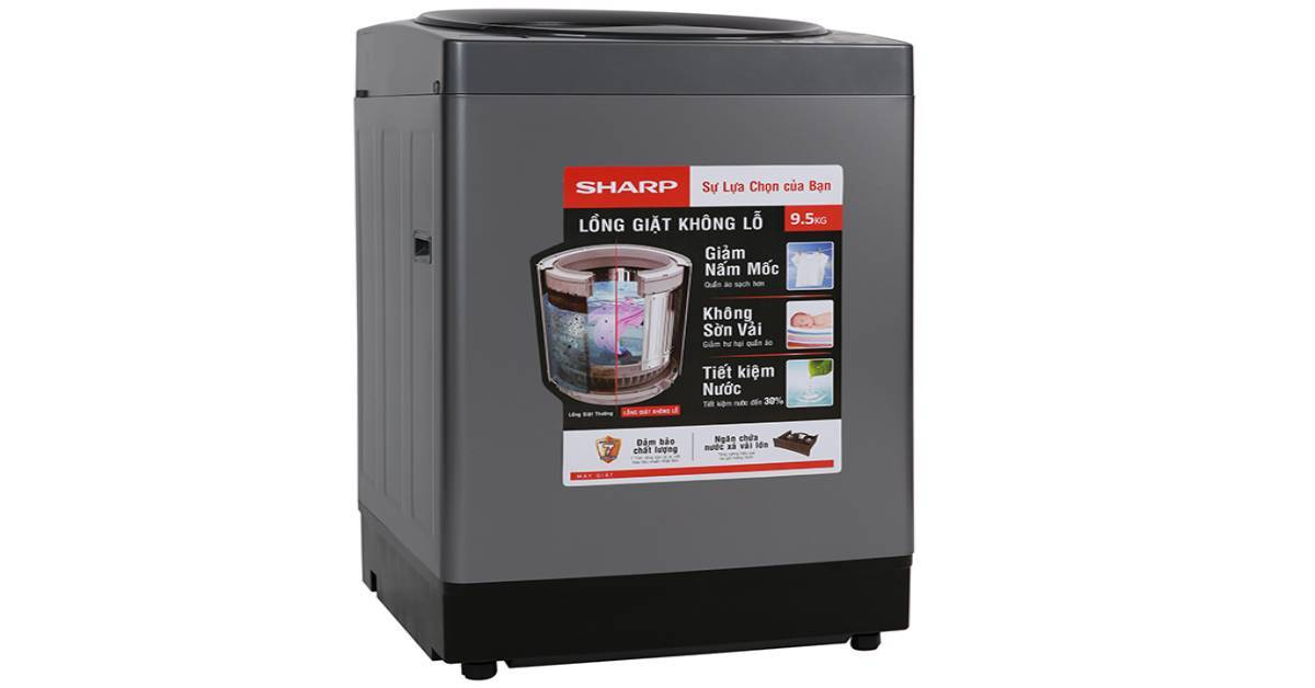Giá máy giặt Sharp 7kg, 8kg, 9kg, 10kg bao nhiêu tiền?