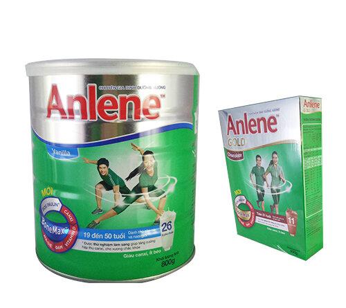 Giá sữa bột Anlene rẻ nhất thị trường cập nhật tháng 5/2017