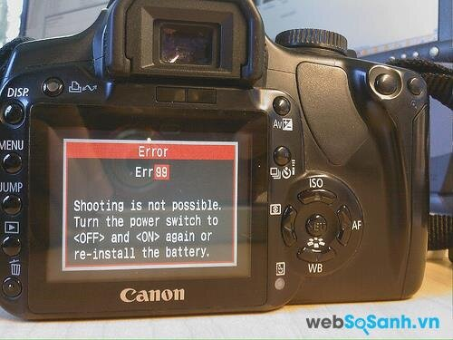 Giải quyết các vấn đề thường xảy ra với máy ảnh Canon
