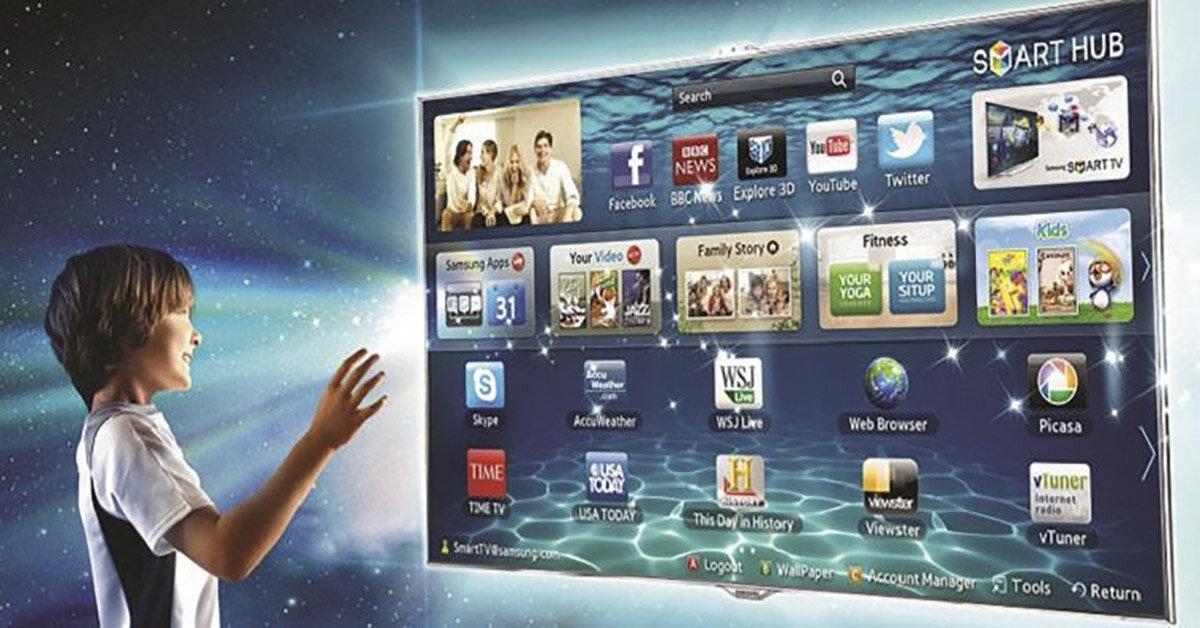 Giao diện Smart Hub – Kho ứng dụng và giải trí thông minh độc quền trên smart tivi Samsung