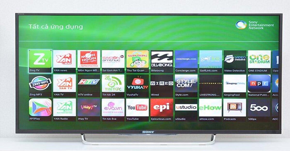 Giao diện Sony Entertainment Network của tivi Sony