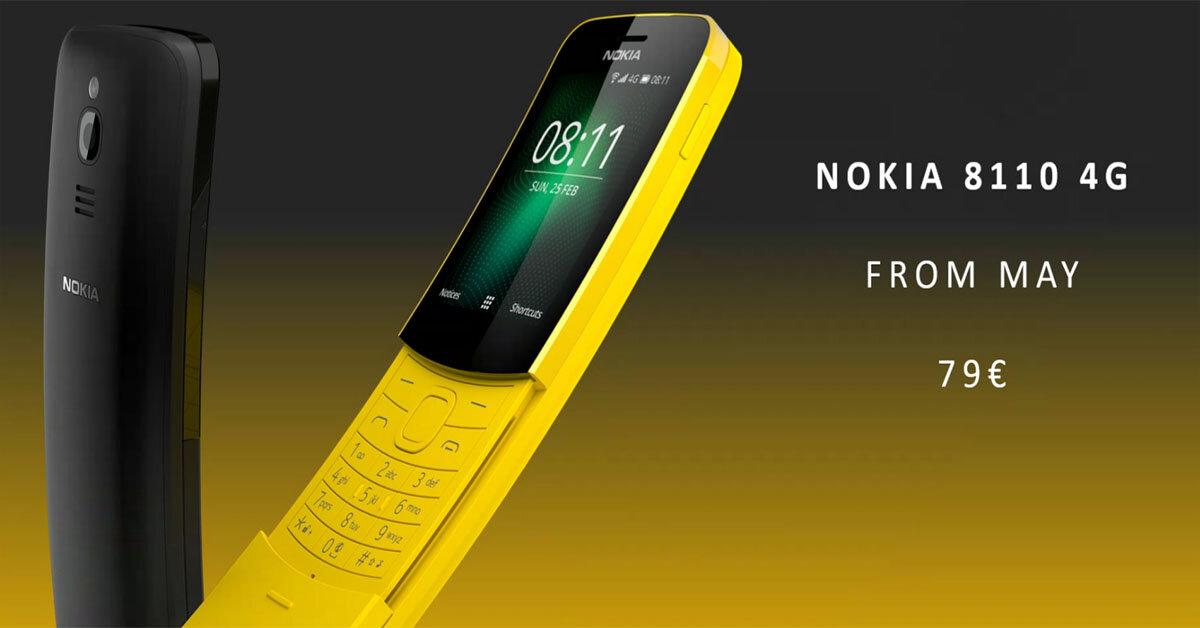 """Giới trẻ phát sốt về chiếc điện thoại """"cục gạch"""" cong như trái chuối Nokia 8110 4G"""