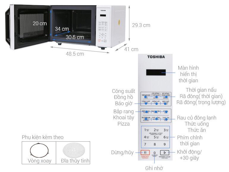 Lò vi sóng Toshiba ER-SS23(W1)VN