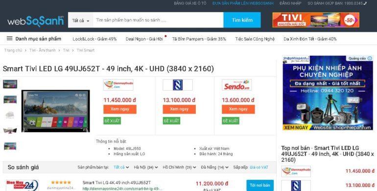 Smart Tivi LG 4K 49 inch 49UJ652T