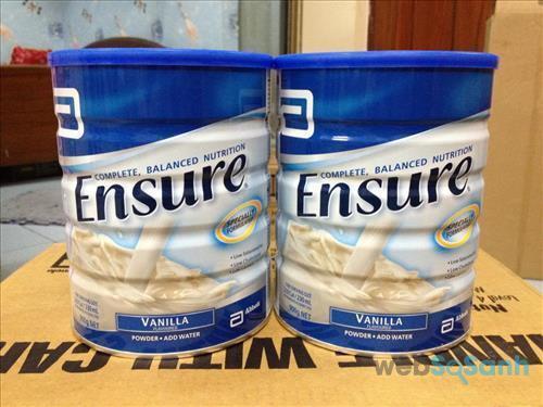 Hướng dẫn cách pha sữa bột Ensure dành cho người lớn, người bệnh, người ăn uống kém, người mới ốm dậy