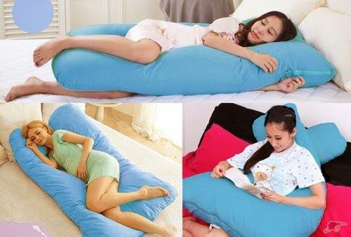 Gối chữ U giúp mẹ bầu ngủ ngon giấc