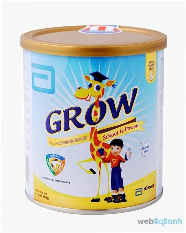 Grow School G-Power – Sữa công thức của Abbott Nutrition cho trẻ từ 6-10 tuổi