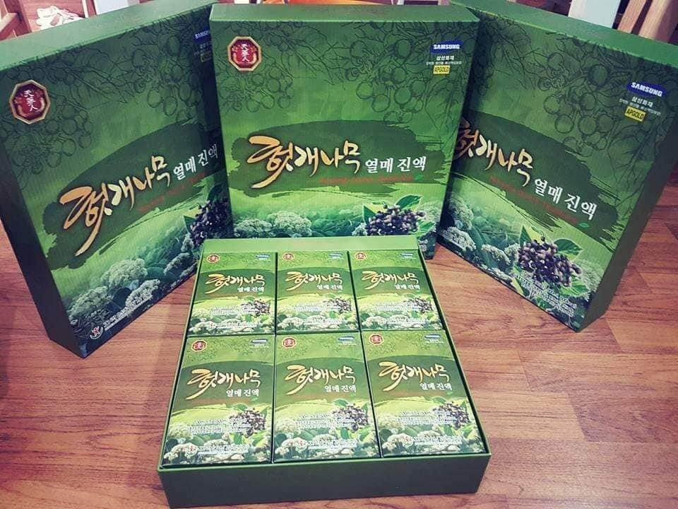Nước thuốc bổ gan giải rượu Hàn Quốc Hovenia Dulcis