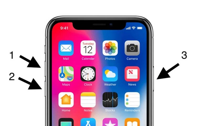 cách reset iPhone X