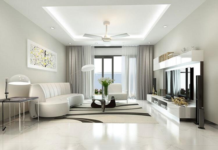 quạt trần phòng khách đẹp
