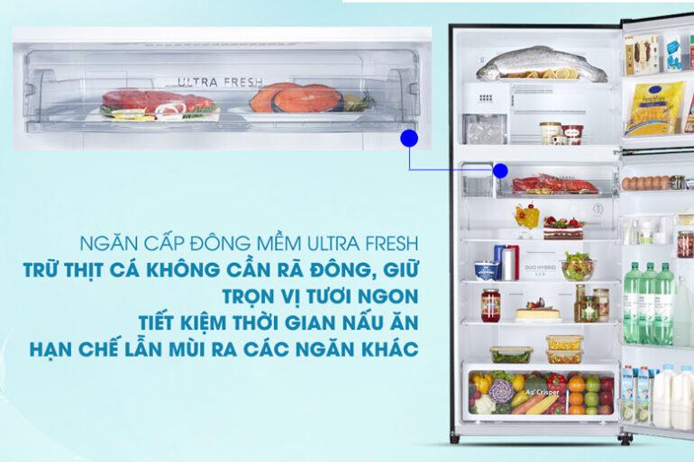 Tủ lạnh ngăn đông mềm Toshiba Inverter 608 lít GR-AG66VA (XK) - Giá tham khảo khoảng 20 triệu vnđ/ chiếc