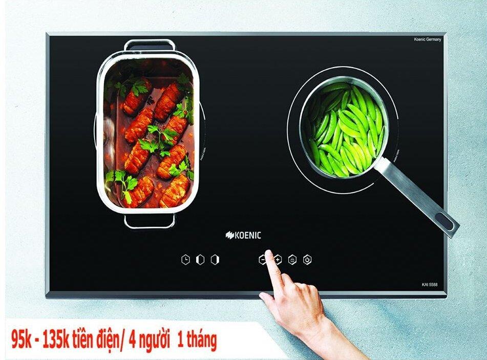 Bếp từ đôi Koenic KAI 5588